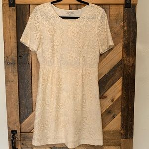 Broadway & Bloom by Madewell   Cream Lace Dress